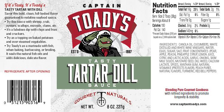 CAPTAIN TOADY'S TASTY TARTAR WITH DILL SAUCE